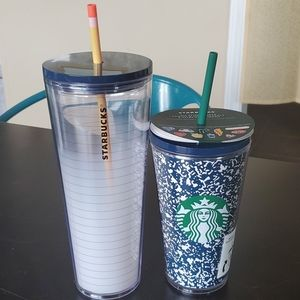 Starbucks Teacher Pencil Composition Cold Cups
